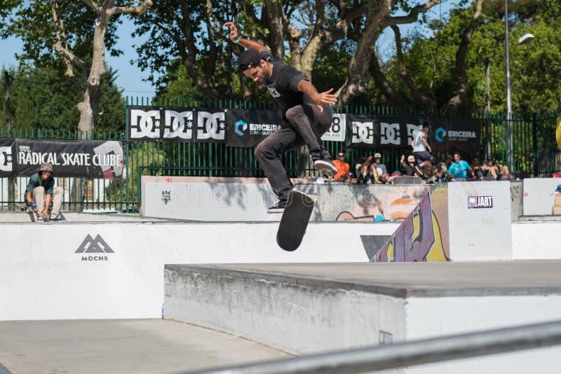 Joao Сантос во время возможности конька DC стоковые фотографии rf