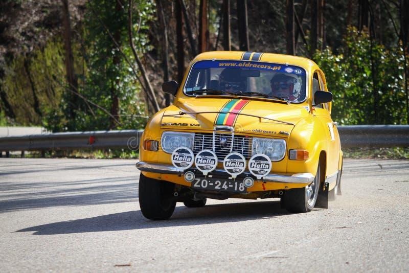 Joao Abrantes驾驶Saab 9.6 V交谊厅 库存照片