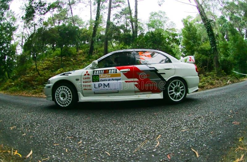 Joaquim Gaspar in Rallye Centro de Portogallo fotografie stock libere da diritti