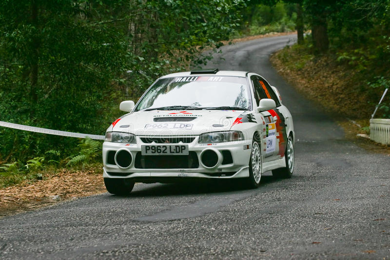 Joaquim Gaspar in Rallye Centro DE Portugal royalty-vrije stock foto's