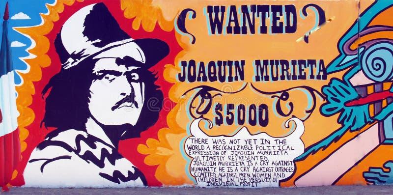 Joaquin Murieta: Vacquero, Goldschürfer u. Bandit stockbild