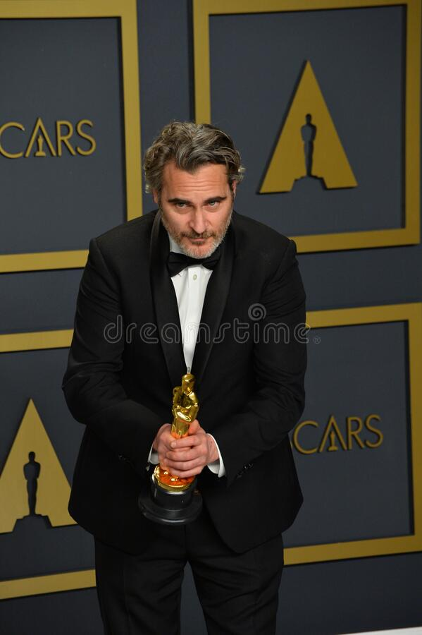 Joaquin Phoenix. LOS ANGELES, USA. February 09, 2020: Joaquin Phoenix at the 92nd Academy Awards at the Dolby Theatre..Picture: Paul Smith/Featureflash royalty free stock photo