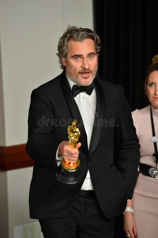 Joaquin Phoenix. LOS ANGELES, USA. February 09, 2020: Joaquin Phoenix at the 92nd Academy Awards at the Dolby Theatre..Picture: Paul Smith/Featureflash stock photo