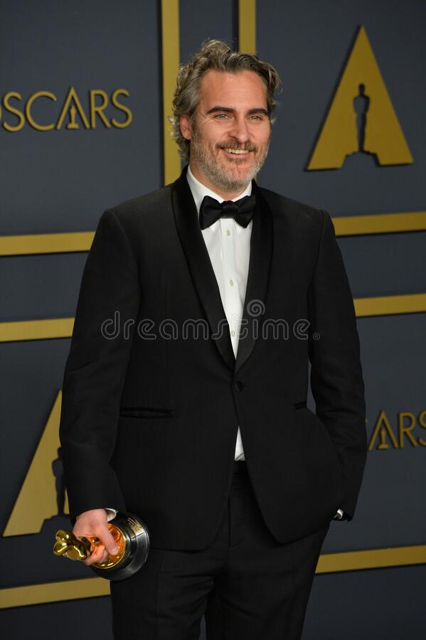 Joaquin Phoenix. LOS ANGELES, USA. February 09, 2020: Joaquin Phoenix at the 92nd Academy Awards at the Dolby Theatre..Picture: Paul Smith/Featureflash royalty free stock photos