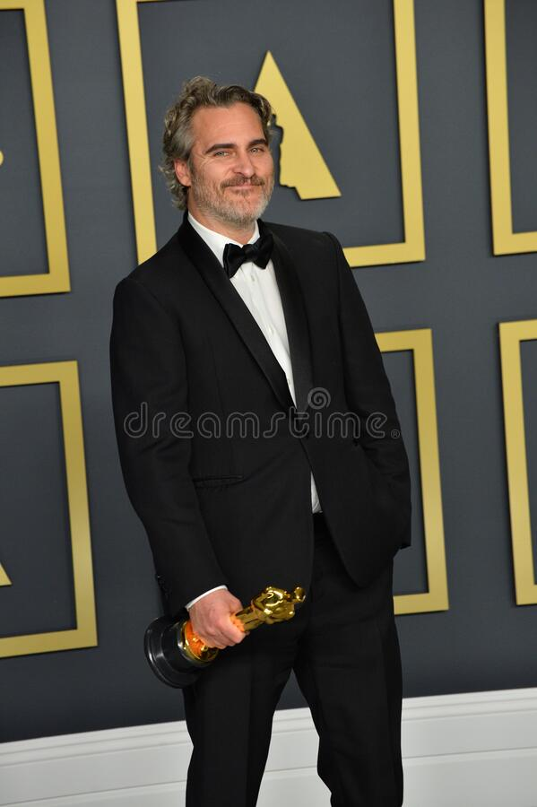 Joaquin Phoenix. LOS ANGELES, USA. February 09, 2020: Joaquin Phoenix at the 92nd Academy Awards at the Dolby Theatre..Picture: Paul Smith/Featureflash stock images
