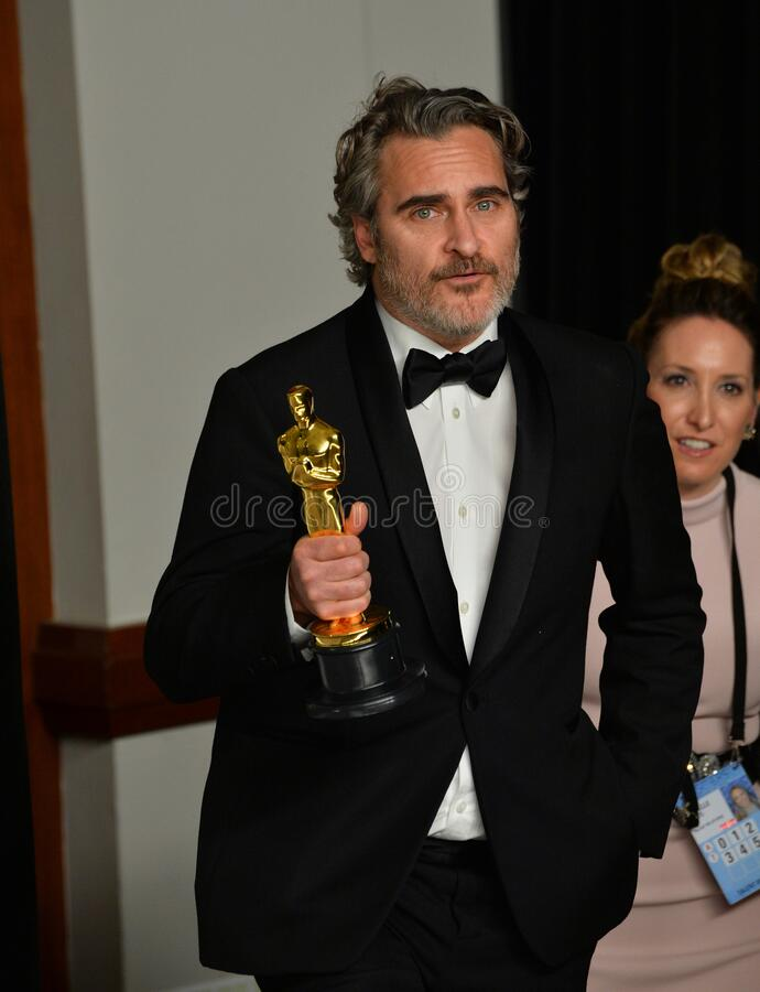 Joaquin Phoenix. LOS ANGELES, USA. February 09, 2020: Joaquin Phoenix at the 92nd Academy Awards at the Dolby Theatre..Picture: Paul Smith/Featureflash stock photos