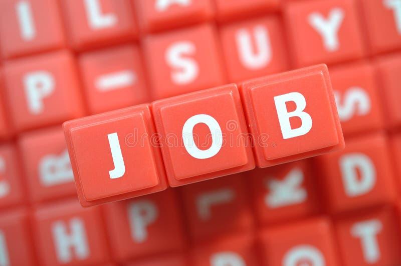 Job. Macro Alphabet Blocks spelling word Job royalty free stock photo