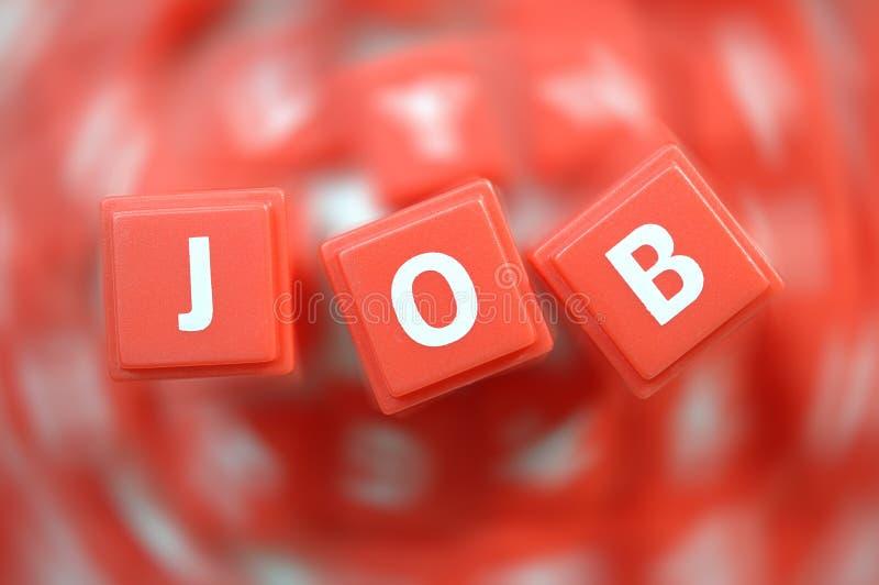 Job. Macro Alphabet Blocks spelling word job,with blur background royalty free stock image