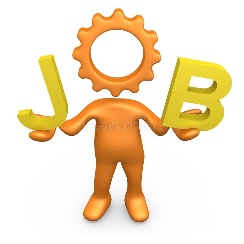 Job. Computer generated 3d image - Job royalty free illustration