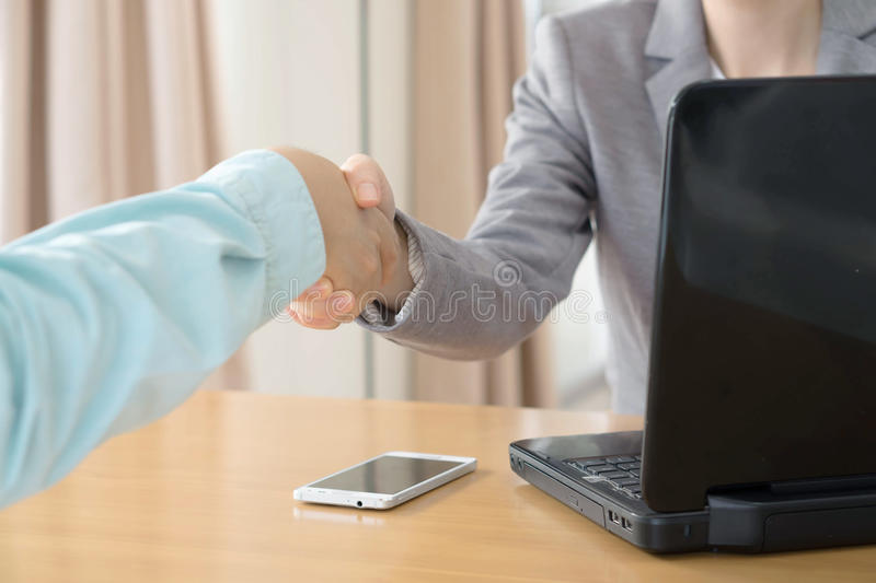 A Job applicant having an interview royalty free stock photo