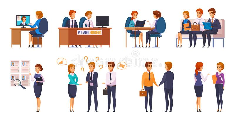 Job Applicants Interviewers Collection illustration stock