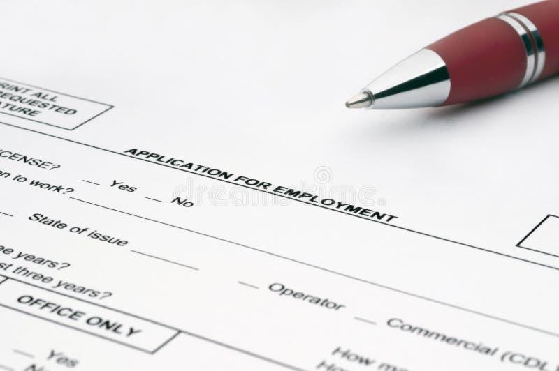 Job application royalty free stock photos
