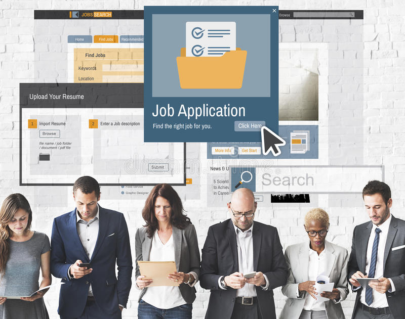 Job Application Apply Hiring Human Resources Concept stock image