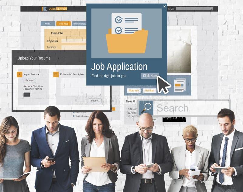 Job Application Apply Hiring Human resursbegrepp fotografering för bildbyråer
