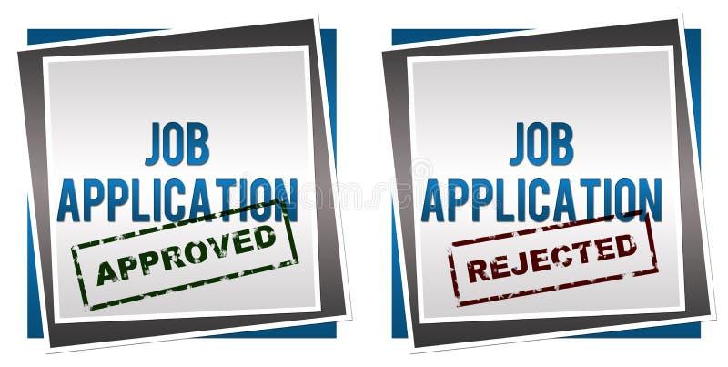Job Application Approved Rejected ilustração stock