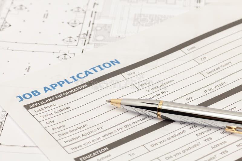 applicant form for job