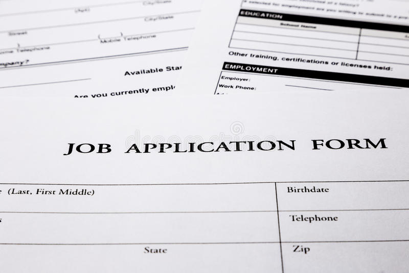 Job Application Form Stock Photos - Image: 31876043