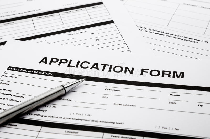 Job Application Form Royalty Free Stock Image - Image: 31876196