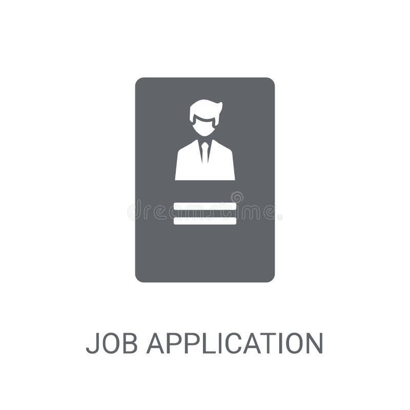 job Application icon. Trendy job Application logo concept on whi royalty free illustration