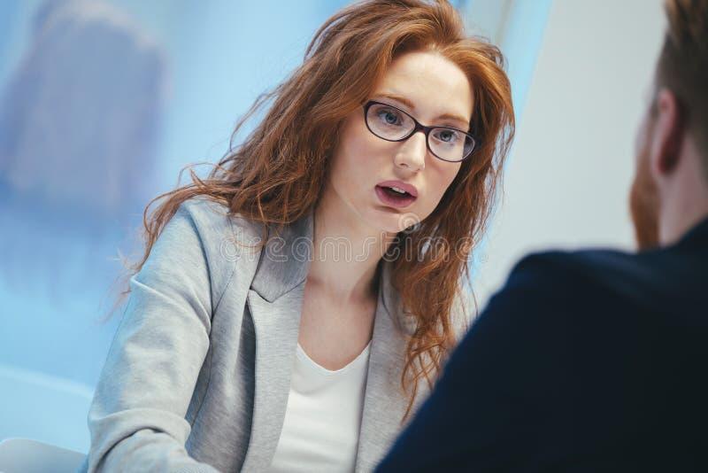 Job application interview stock photos