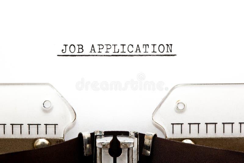 Job Application On Typewriter royalty free stock photos