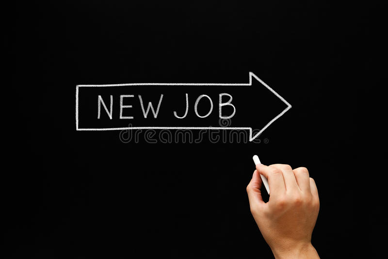 Job Arrow Concept Blackboard novo fotos de stock