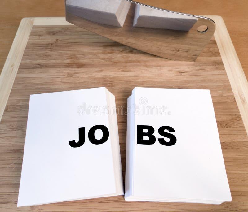 Job-Ausschnitt lizenzfreie stockfotografie