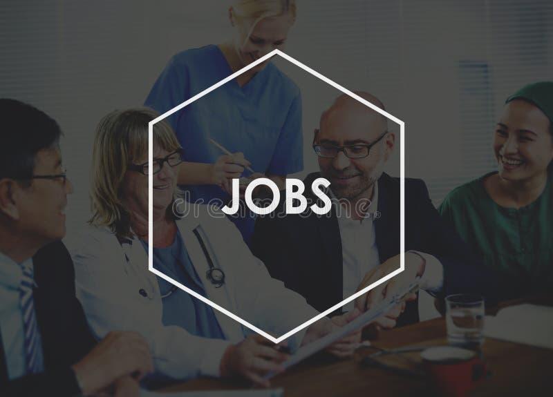 Job-Beschäftigungs-Karriere-Besetzungs-Anwendungs-Konzept stockfotos