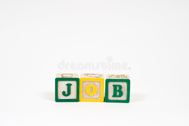 JOB in block letters royalty free stock images