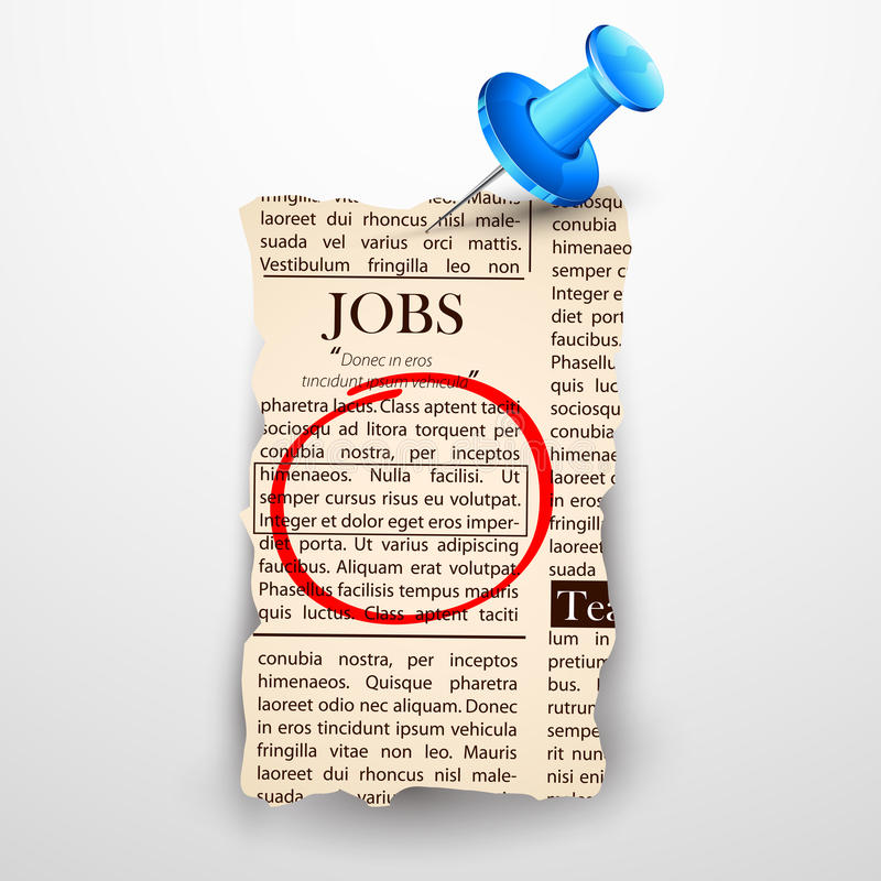Job Classified in Newspaper royalty free illustration