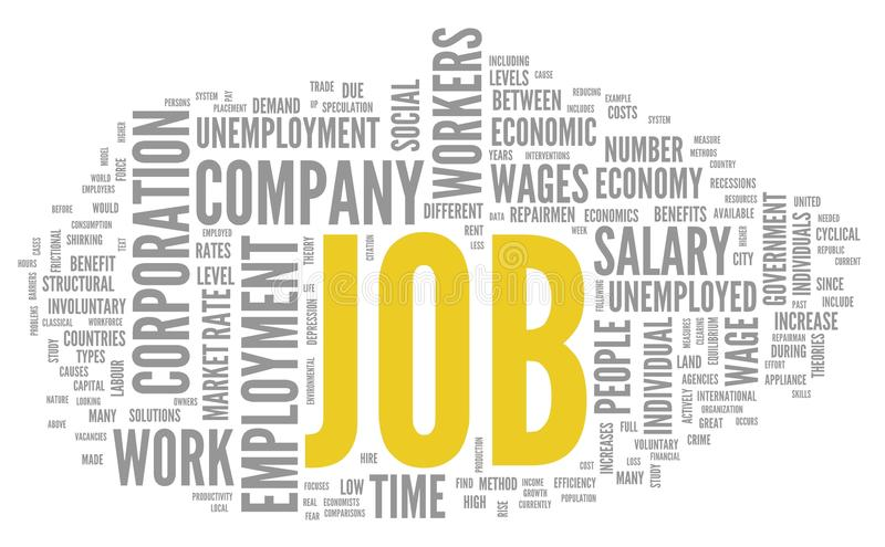 Job Concept In Word Tag Cloud Royalty Free Stock Photo