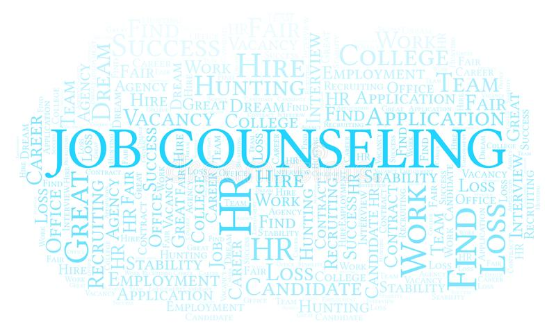 Job Counseling-woordwolk vector illustratie