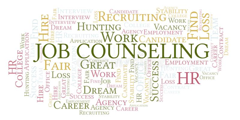 Job Counseling-woordwolk stock illustratie