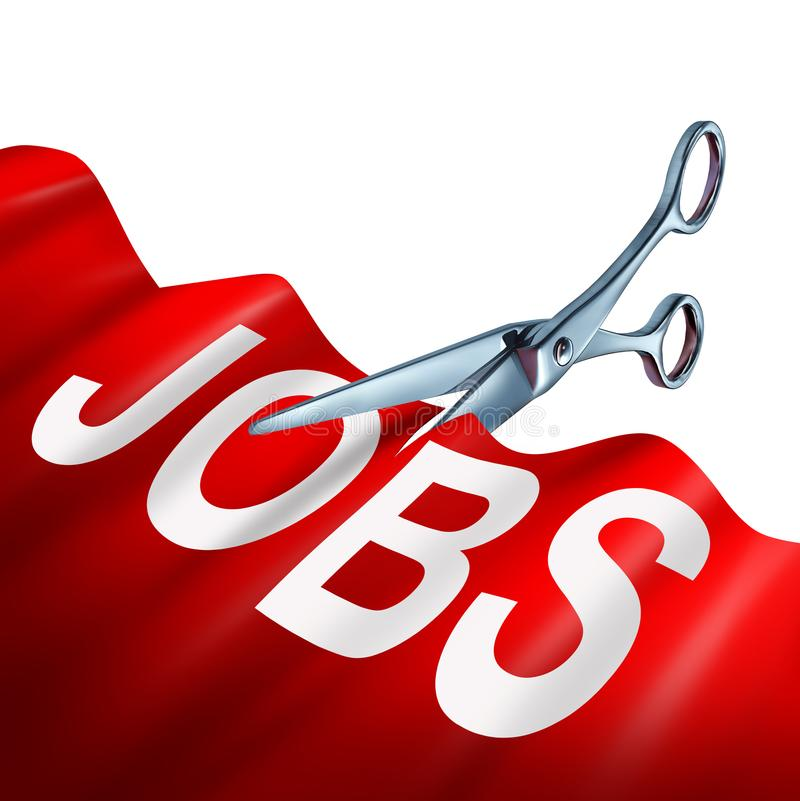 Job Cuts Business Concept stock illustrationer