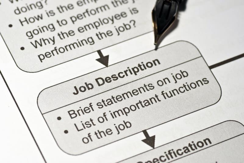 Job description stock photo