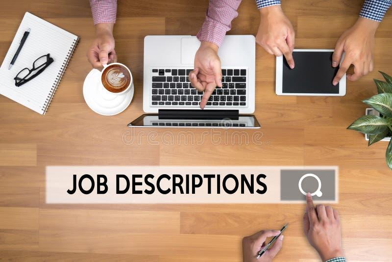 JOB DESCRIPTIONS Human resources, employment, team management J. OB DESCRIPTIONS , PERFORMANCE MANAGEMENT JOB DESCRIPTIONS , Hiring a new employee or recruitment stock photos