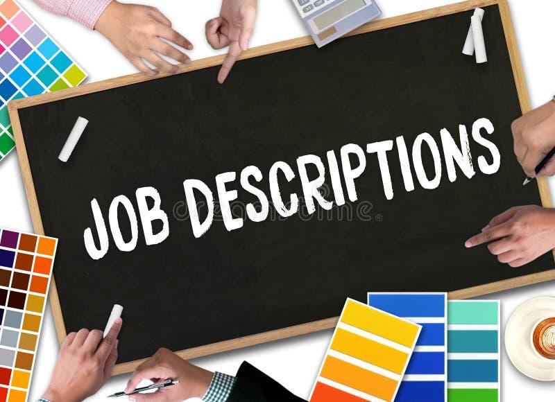 JOB DESCRIPTIONS Human resources, employment, team management J. OB DESCRIPTIONS , PERFORMANCE MANAGEMENT JOB DESCRIPTIONS , Hiring a new employee or recruitment royalty free stock photos