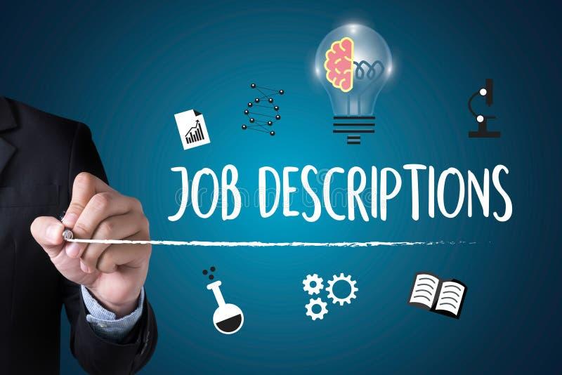 JOB DESCRIPTIONS Human resources, employment, team management J. OB DESCRIPTIONS , PERFORMANCE MANAGEMENT JOB DESCRIPTIONS , Hiring a new employee or recruitment royalty free stock images