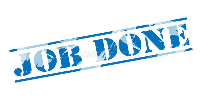 Job done blue stamp stock illustration
