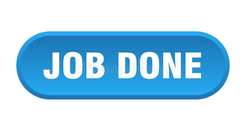 job done button stock illustration