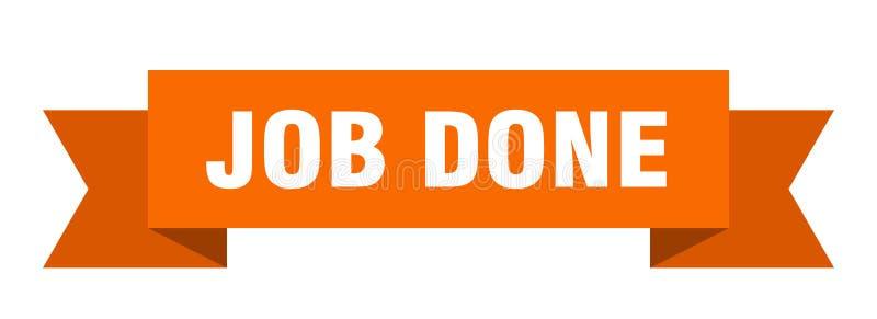 Job done ribbon. Job done banner. sign. job done vector illustration