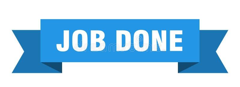 Job done ribbon. Job done banner. sign. job done royalty free illustration