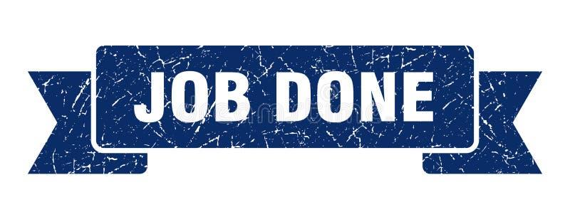 Job done ribbon. Job done vintage sign. banner. job done royalty free illustration