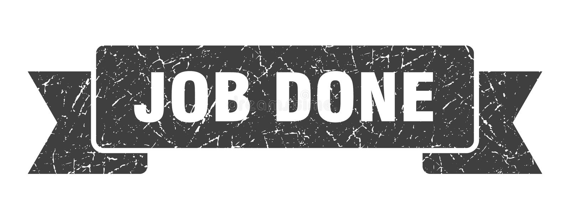 Job done ribbon. Job done vintage sign. banner. job done vector illustration