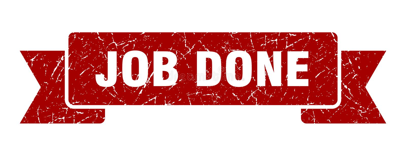 Job done ribbon. Job done vintage sign. banner. job done stock illustration