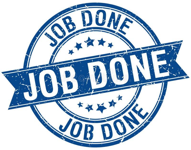 Job done stamp. Job done round grunge vintage ribbon stamp. job done vector illustration