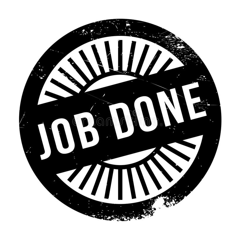 Job done stamp royalty free illustration