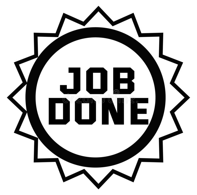 JOB DONE stamp on white. Background. Signs and symbols series royalty free illustration