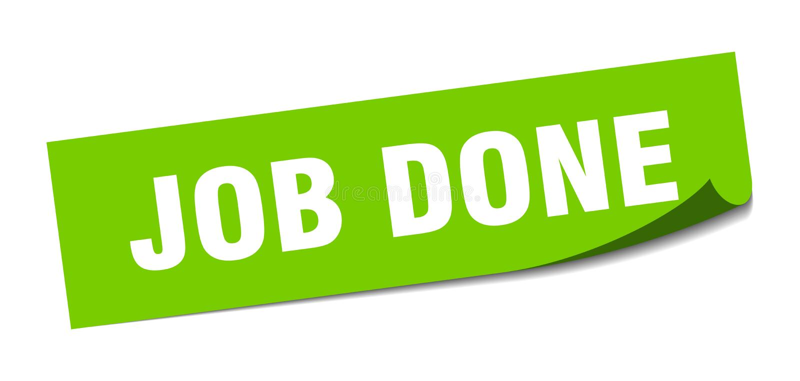 Job done sticker. Job done square sign. job done vector illustration