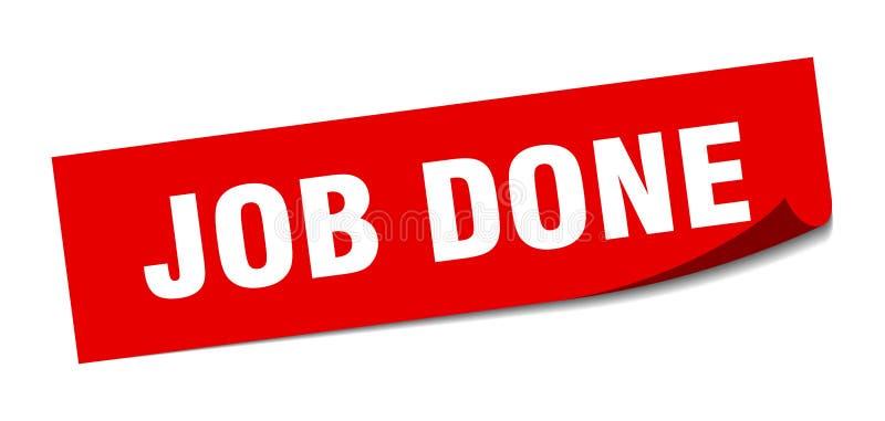 Job done sticker. Job done square sign. job done stock illustration